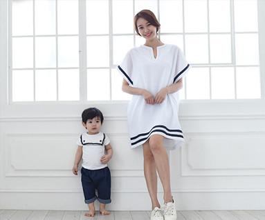 セーラー家族の母親と赤ちゃんショートTシャツ_15B16
