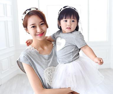 コットンママと赤ちゃんショートTシャツ_15B15WK