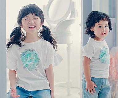 ブルーマリン赤ちゃんショートTシャツ_17B09K