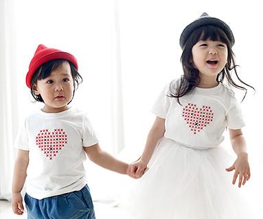 ステッチラウンド赤ちゃんショートTシャツ_16B01K