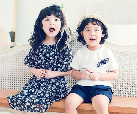 フラワー赤ちゃんショートTシャツ_17B12K