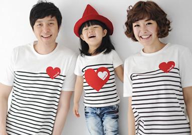 私の愛ラウンドT家族ショートTシャツ_17B26