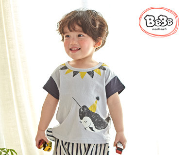 "<font color=""ffffff"">[家族半袖Tシャツ&ファミリールック] <br></font>クジラヒットT 19S139 /子供服、子供服、キッズルック"