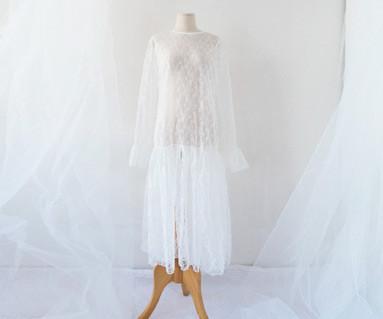 シューレースドレス18D07F /ドレス