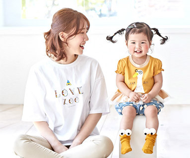 "<font color=""ffffff"">[家族ショートTシャツティー&ファミリールック] <br></font>キャンピングのおかげシャーリングママと赤ちゃんショートTシャツ_19B01"