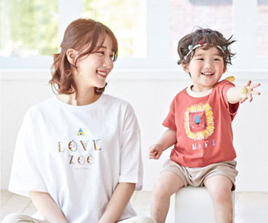 "<font color=""ffffff"">[家族ショートTシャツティー&ファミリールック] <br></font>キャンピングライアンママと赤ちゃんショートTシャツ_19B01"