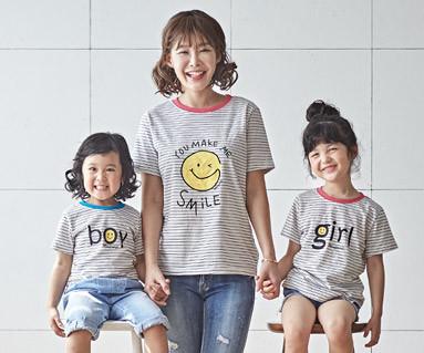"<font color=""ffffff"">[家族ショートTシャツティー&ファミリールック] <br></font>スマイル米の母親と赤ちゃんショートTシャツ_18B04 <font color=""#FF6666""><strong>[注文可能]</strong>"