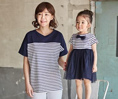 "<font color=""ffffff"">[家族ショートTシャツティー&ファミリールック] <br></font>クロエママと赤ちゃんショートTシャツ_18B12"