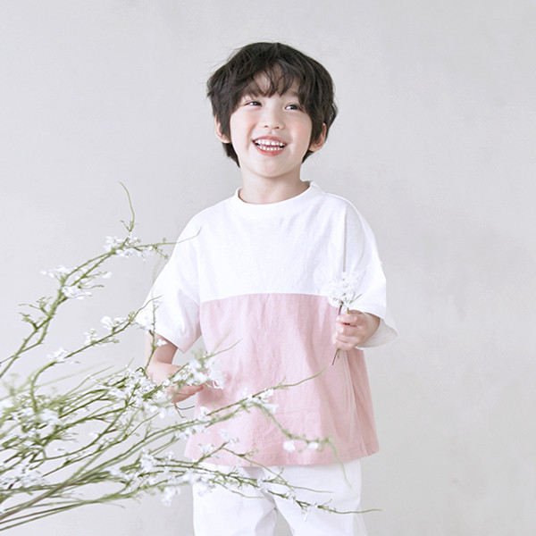 アリシアショートTシャツ子供21B11K /ファミリールック、家族の写真の衣装
